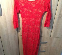 Crvena Blondy naked haljina, jednom nošena
