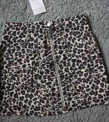 Kratka CP suknjica u leopard printu, vel. XS