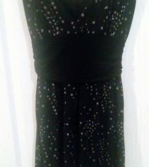 Mala crna haljina letnja svetlucava  UK SNIZENO