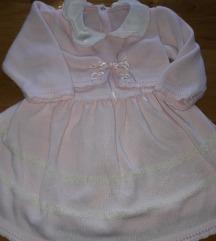 Haljinica od trikotaze bebi roze boje