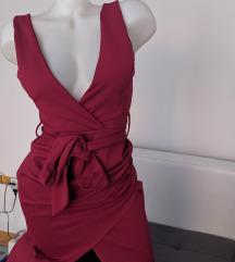 Bordo dugacka haljina