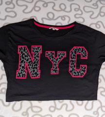 C&A kratka crna majica sa printom