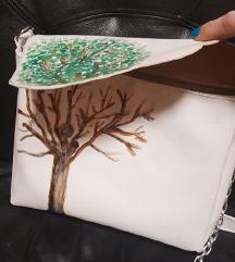 Proleće-jesen torba, rucno oslikana
