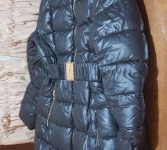 Crna duza zimska jakna vel.l snizeno