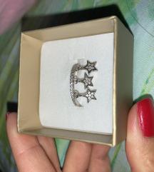 Srebrni prsten zvezdice + gratis ptt