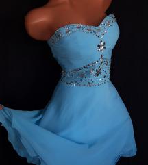 ♡ Azurno plava korset haljina ♡