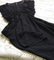 Unikatna crna haljina sa postavom