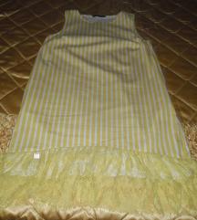 PS Fashion zuto bela haljina 40, nova