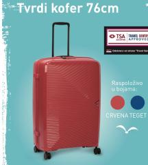 NOV Umbro tvrdi kofer 76cm boje crvena i teget