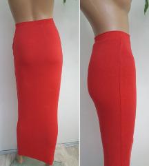 Primark crvena maksi suknja