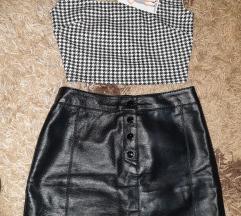 Kozna H&M suknja i amisu nova majica
