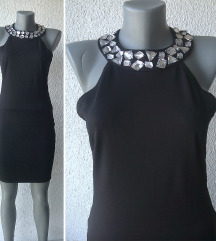 crna svečana mini haljina broj S AMISU