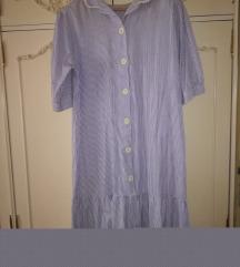 Plavo-bela haljina
