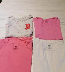 4 H&M majice kratkih rukava 122/128