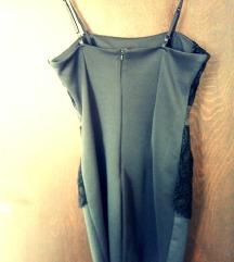 Crna svecana haljina + bolero