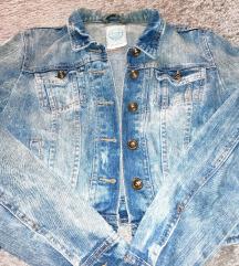 Crop top teksas jakna