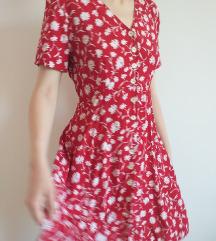 Crvena vintage haljinica