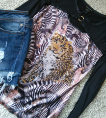 Roberto Cavalli bluza sa animal printom