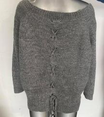 Alessia Pacini baggy džemper sa spuštenim ramenima