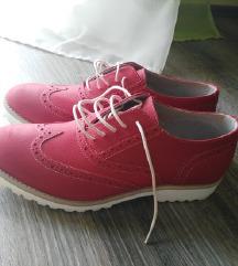 Bata  kožne crvene cipele oksfordice