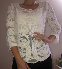 H&M bela bluza