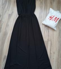 H&M duga crna elegantna haljina