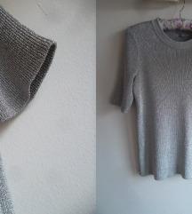 COS srebrna bluza-dzemperak, XS-S