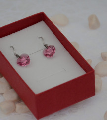 Srebrne minđuše Crystals from Swarovski