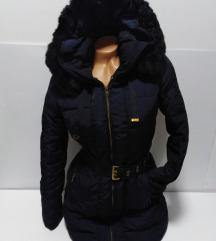 ZARA perjana duža jakna sa kapuljačom MS