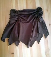 Lepršava braon suknja