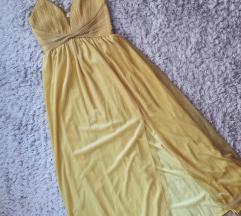 Zuta maturska haljina novo