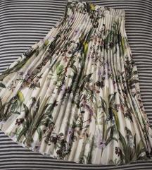 HM plisirana suknja u floralnom printu, vel. XS