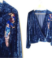 ZARA pliš kimono vel M