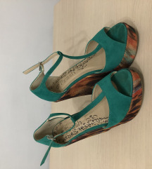 Zelene sandale platforma