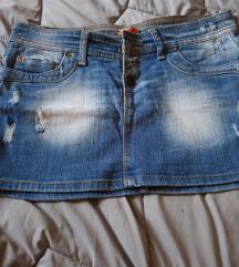Teksas mini suknja SNIZENO DANAS 500 DIN