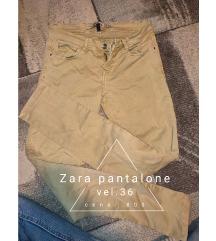 Zara oker pantalone  36