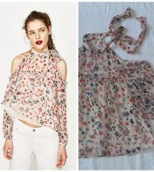 NOVA Zara off-shoulder bluza cvetna
