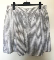Suknja na pruge H&M, vel. L, nova, plus-size