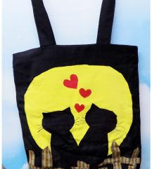 Handmade LOVE CATS torba