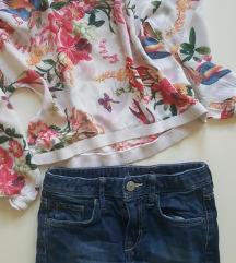 Viskozna bluzica i teksas suknja