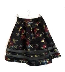Asos Petite cvetna suknja sa tilom-NOVO