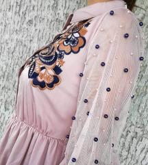 Roze haljina NOVA