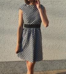 Slatka karirana vintage haljinica