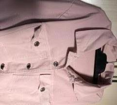 Svetlo roze teksas jakna