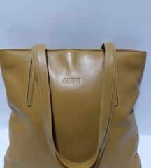 ITALY velika torba prirodna 100%koža 35x32