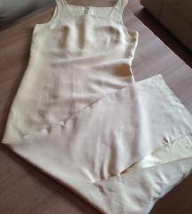Dugačka haljina boje vanile sa bolerom! 38