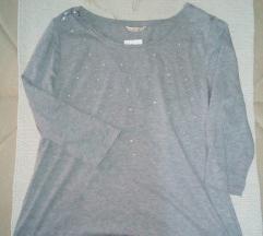 CAMATEU siva bluzica sa biserima L/XL- Novo