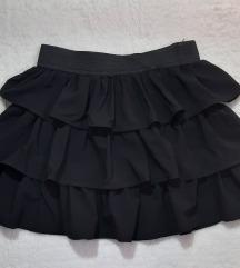 Tally Weijl crna suknja sa karnerima, kao nova
