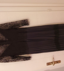 SNIZENO NOVA  ZARA cipkasta plisirana haljina