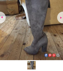 Sive cizme do pola butina